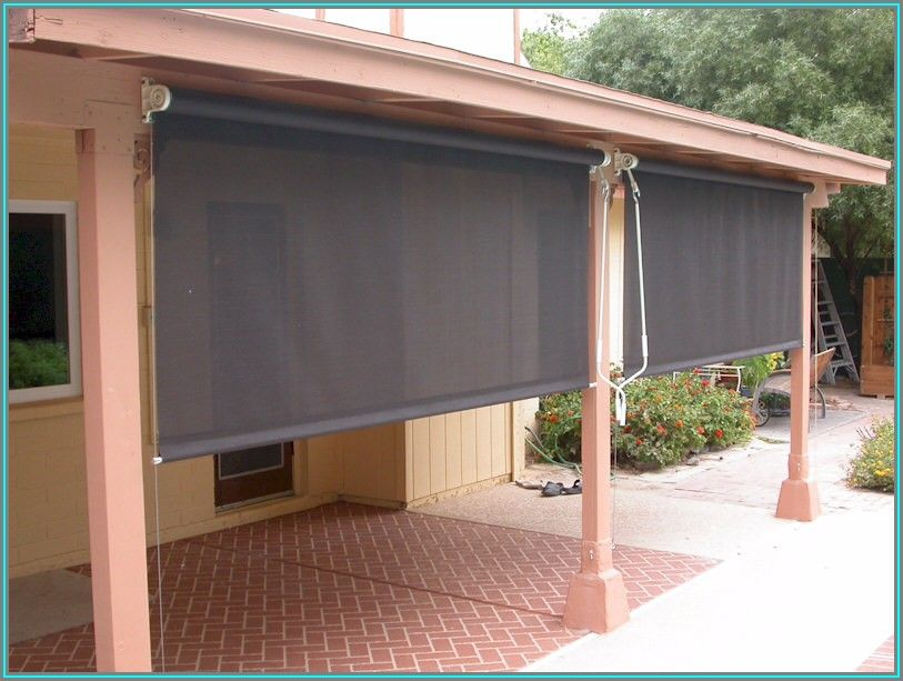 Roll Down Sun Shades For Patios