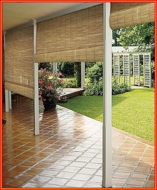 Roll Up Patio Blinds