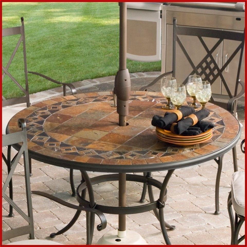 Round Granite Patio Table