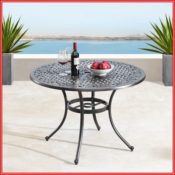 Round Mesh Patio Dining Table