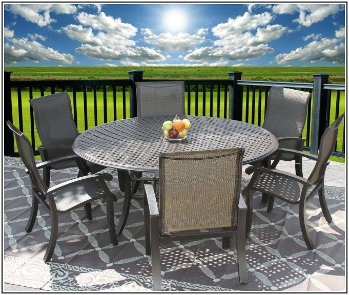 Round Patio Table For 6