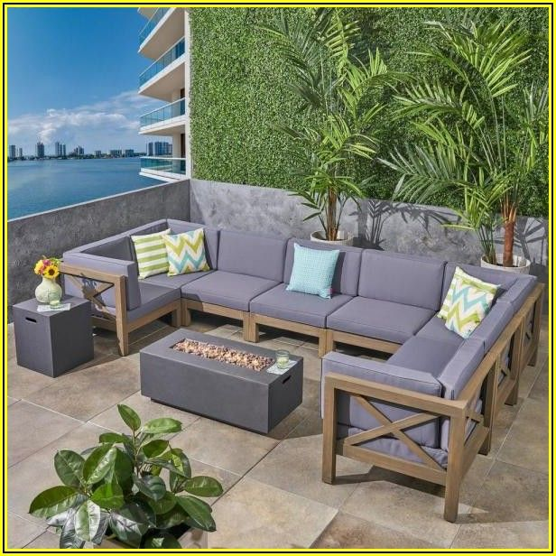 Sectional Patio Furniture With Fire Pit