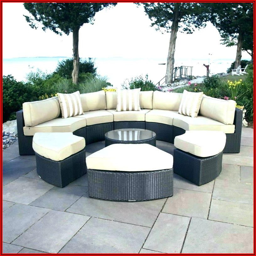 Semi Circular Patio Seating