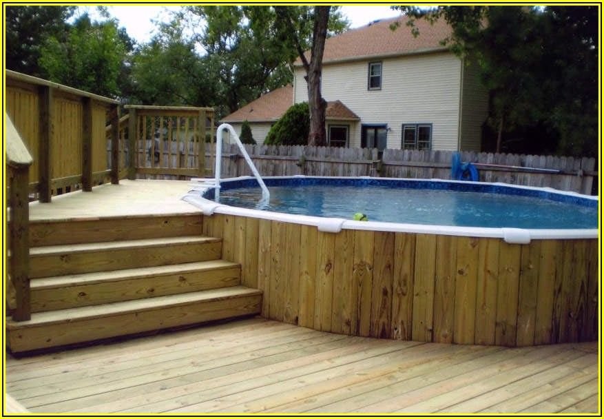 Semi Inground Pool Patio Ideas