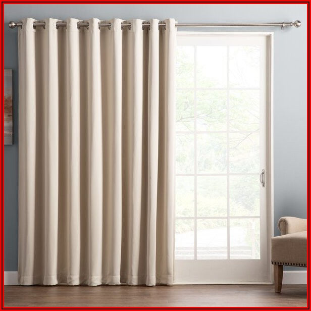 Sheer Patio Door Curtain Panels