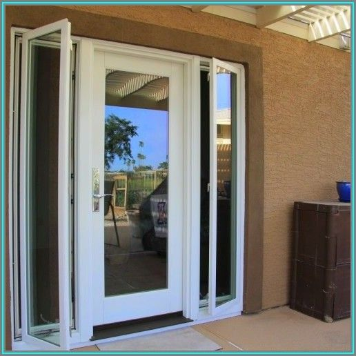 Single French Patio Door With Sidelights