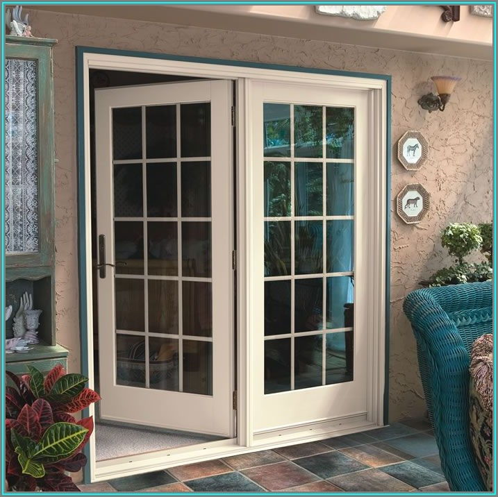 Single Hinged Patio Door With Sidelights