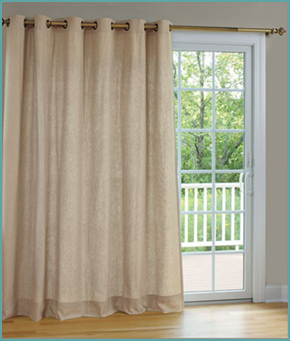 Single Panel Patio Door Curtains
