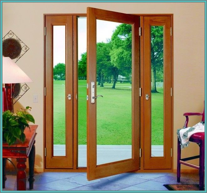 Single Patio Door With Sidelights That Open