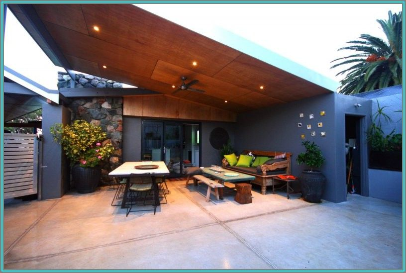 Skillion Roof Patio Plans