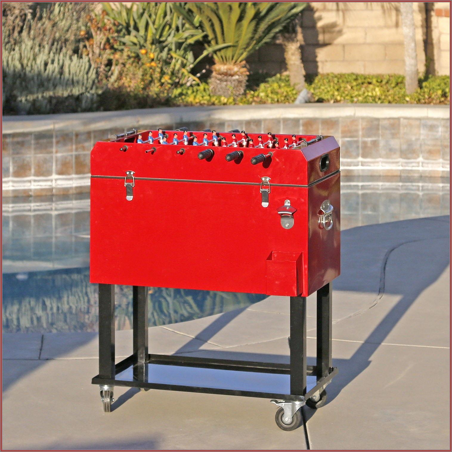 Sky 65 Quart Rolling Outdoor Patio Cooler