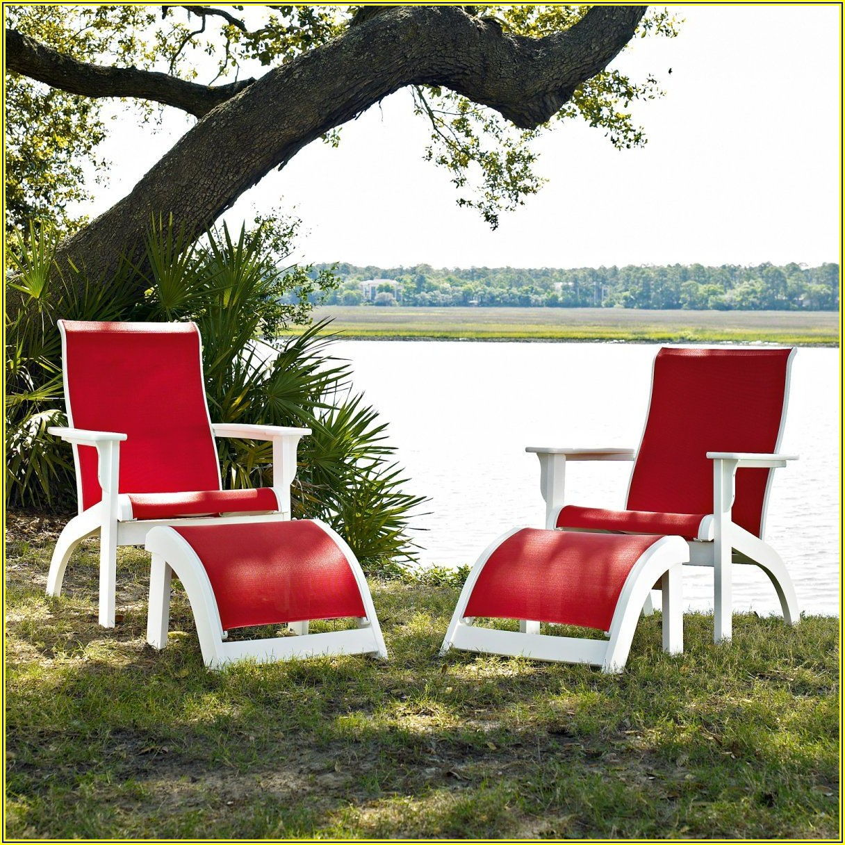 Sling Ottoman Patio Furniture