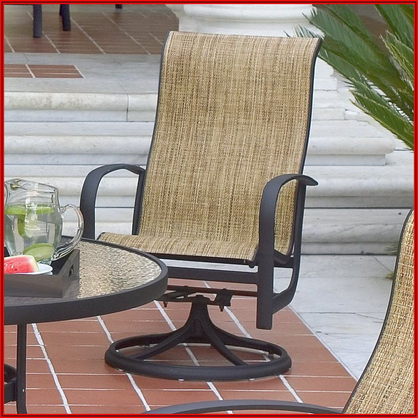 Sling Swivel Rocker Patio Dining Chair