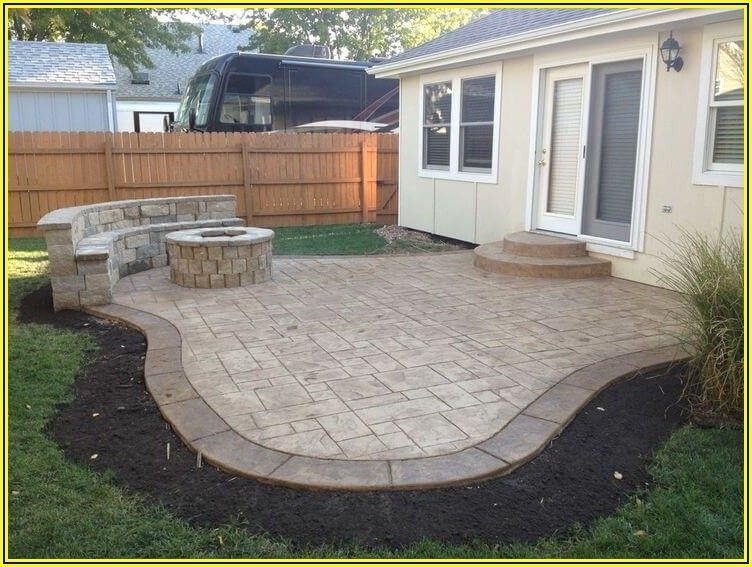 Small Stamped Concrete Patio Ideas
