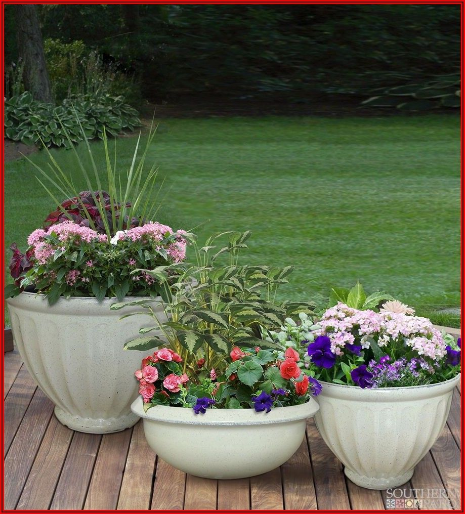 Southern Patio Resin Planters