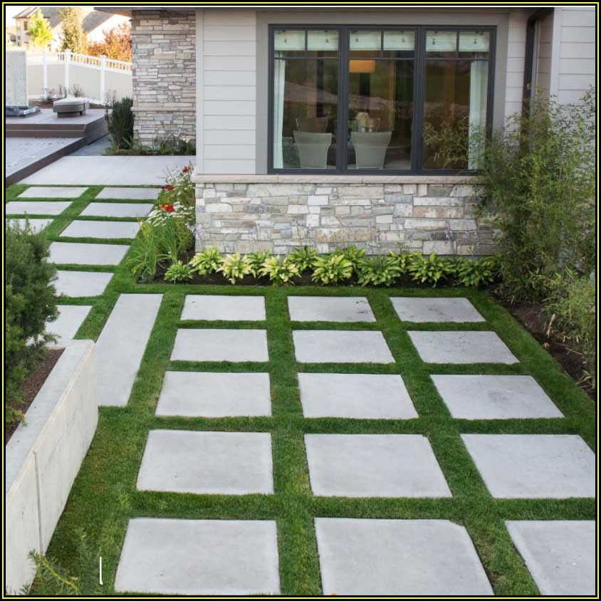 Square Gray Concrete Patio Stone 24x24