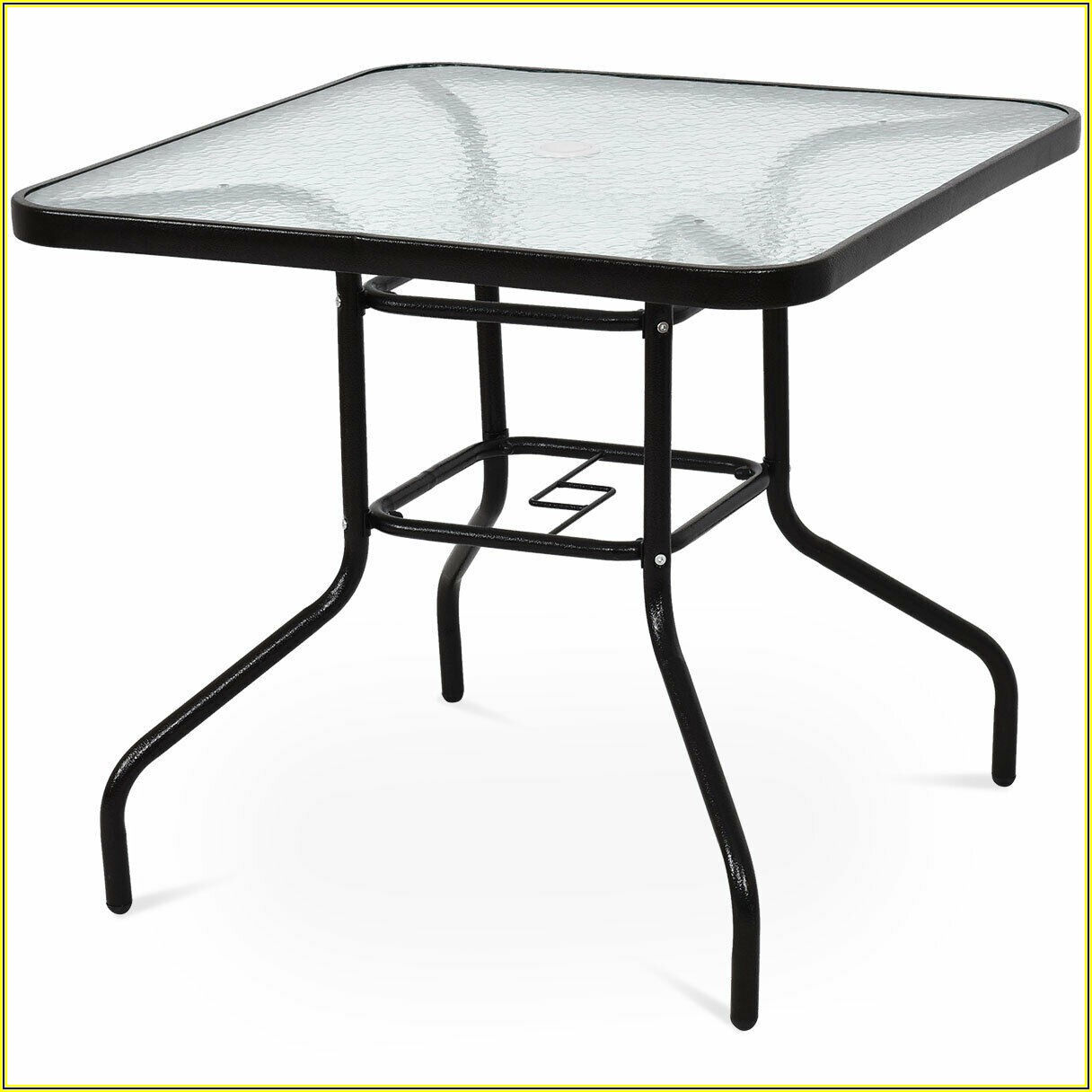 Square Metal Patio Table