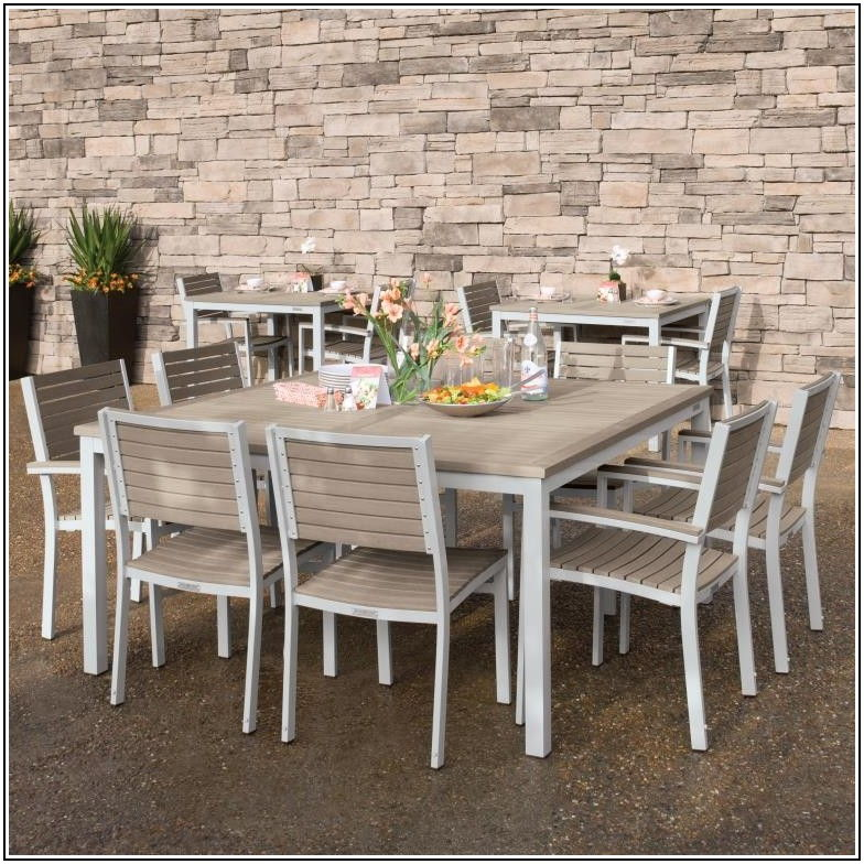 Square Patio Dining Set Seats 8