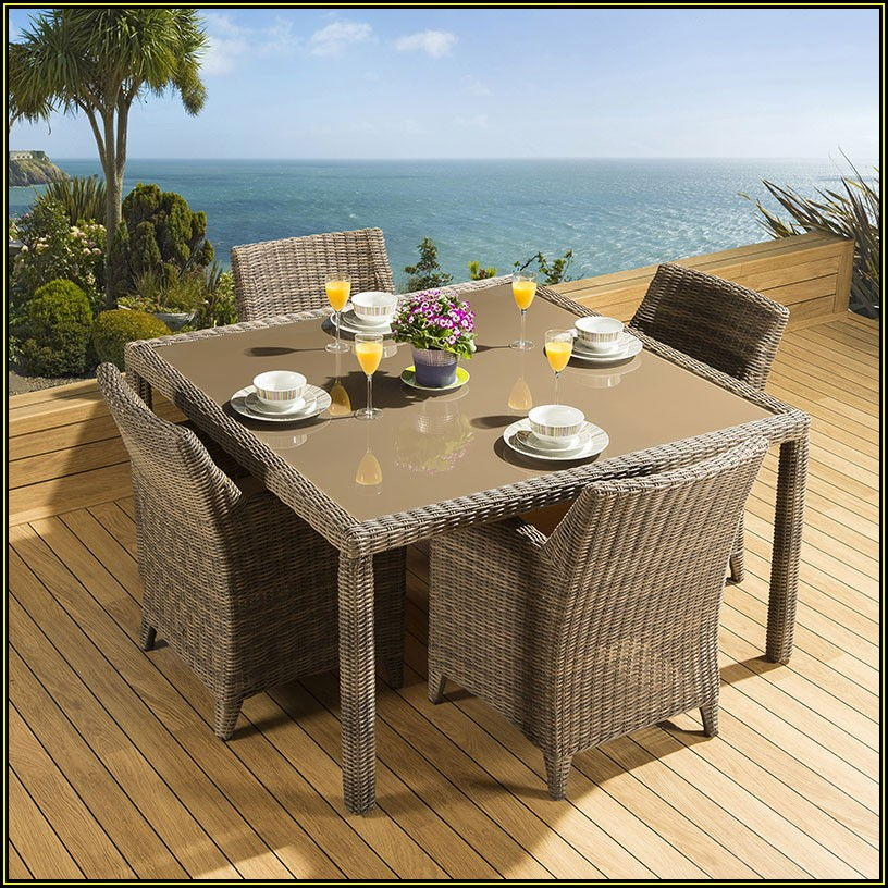Square Patio Dining Table Seats 4