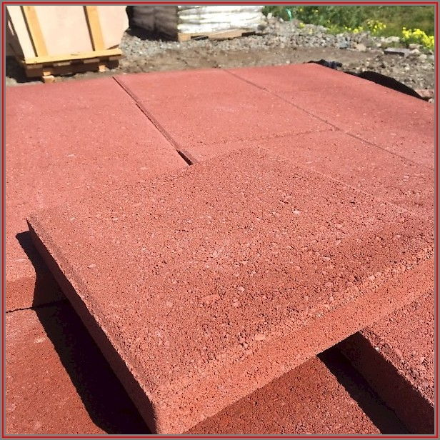 Square Red Concrete Patio Stone