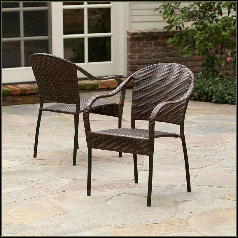 Stackable Wicker Patio Chairs