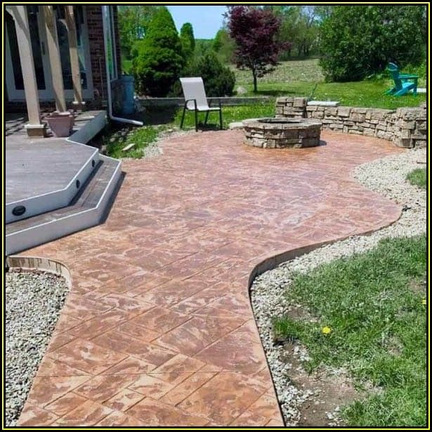 Stamped Concrete Patio Design Ideas
