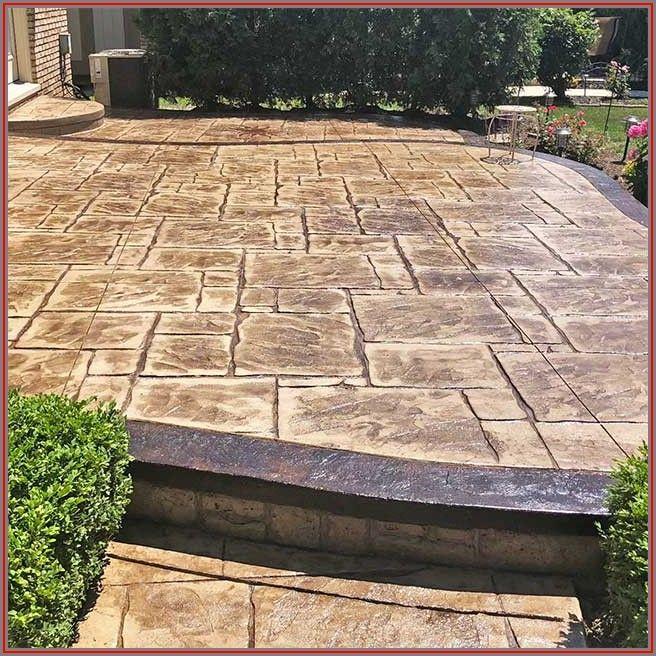 Stamped Concrete Patio Michigan