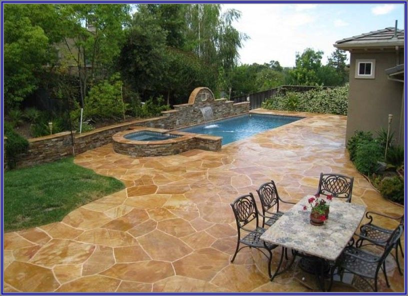 Stamped Concrete Pool Patio Ideas