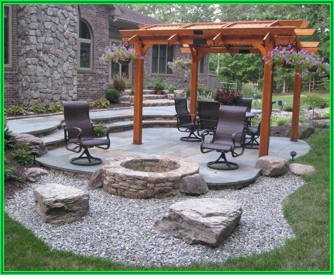 Stone Patios With Fire Pits