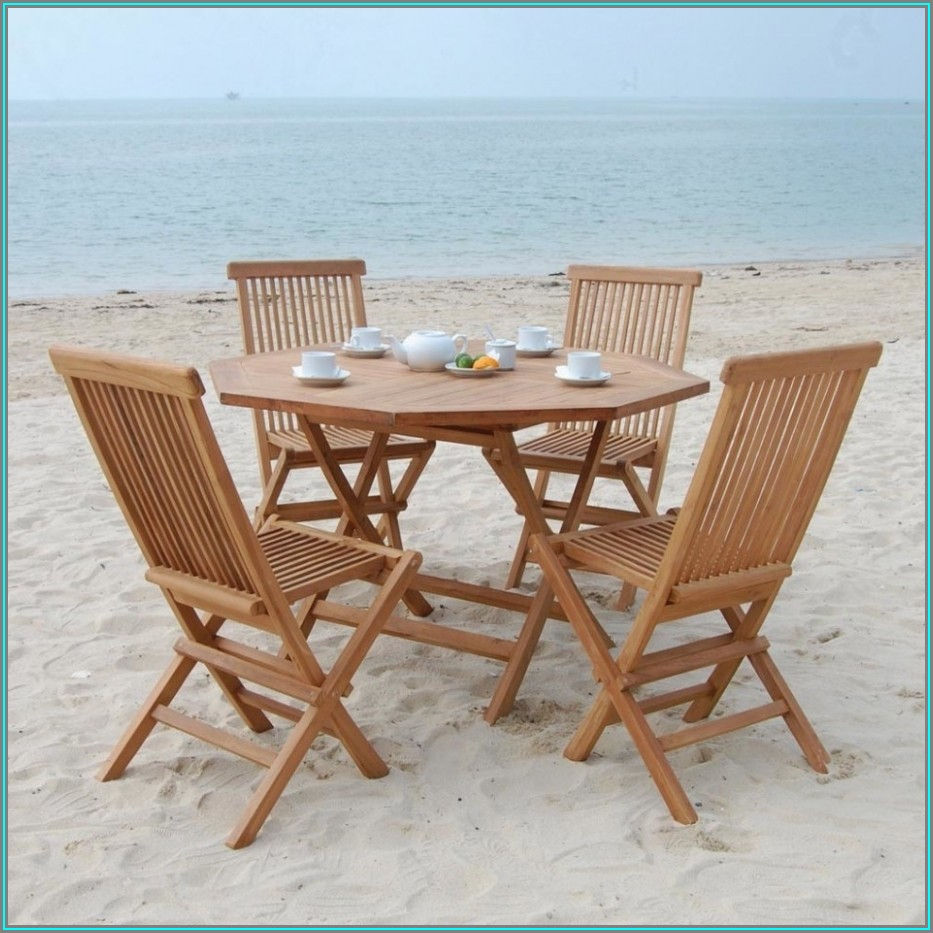Stowable Patio Table And Chairs