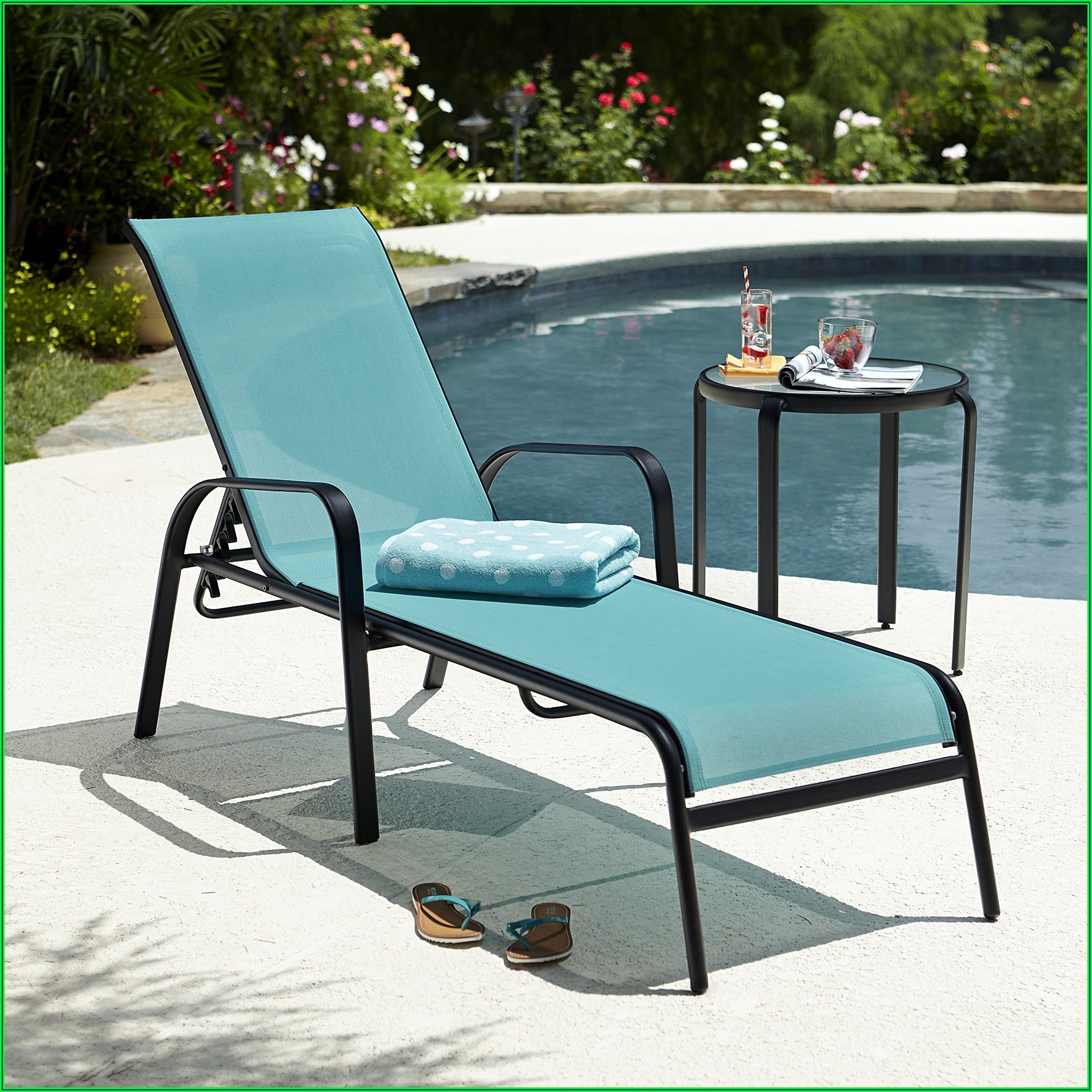 Strap Patio Stackable Chaise Lounge