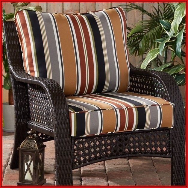 Striped Outdoor Patio Cushions