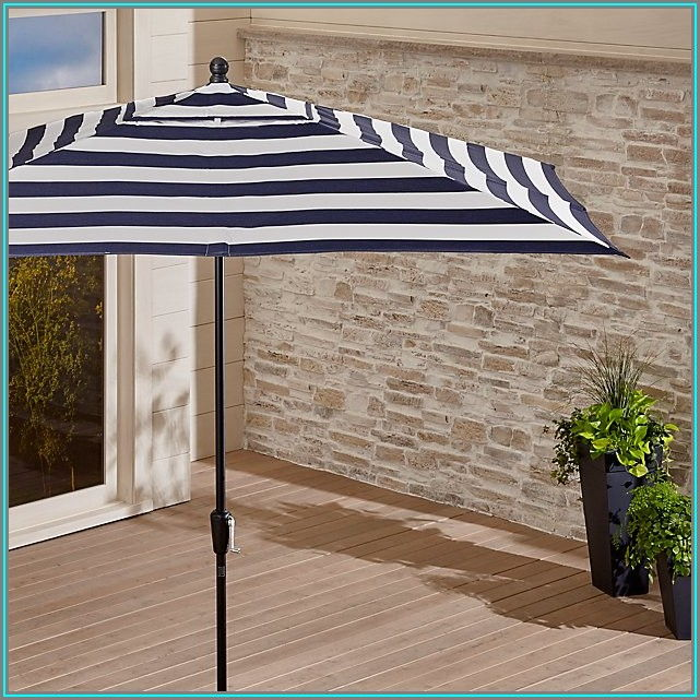 Striped Rectangular Patio Umbrella