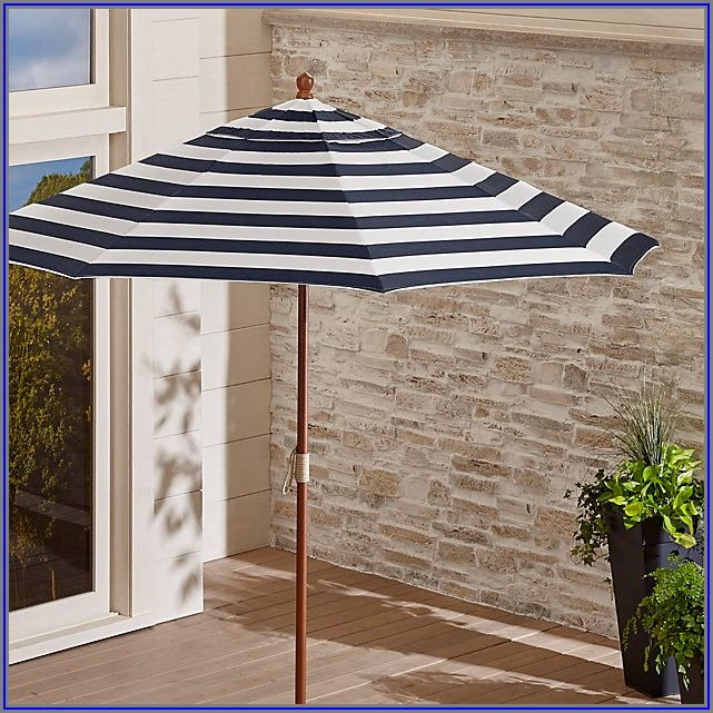 Striped Sunbrella Patio Umbrellas