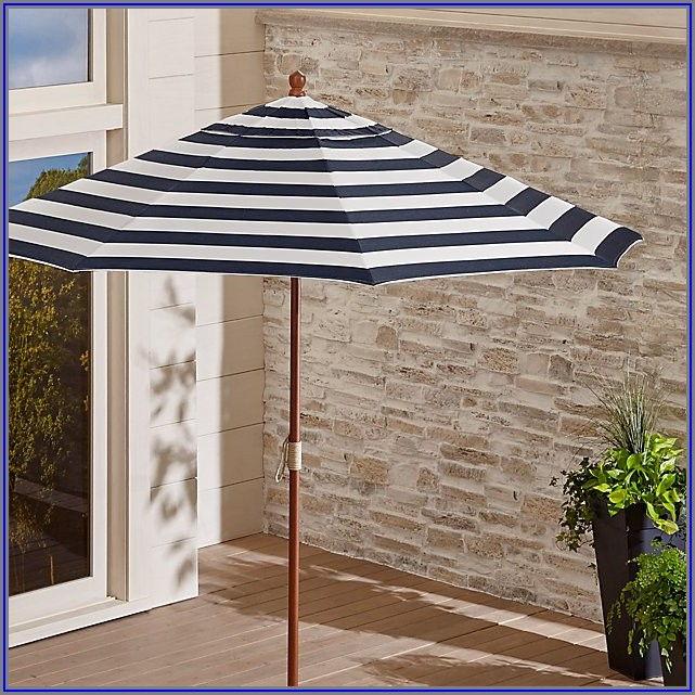 Striped Sunbrella Patio Umbrellas