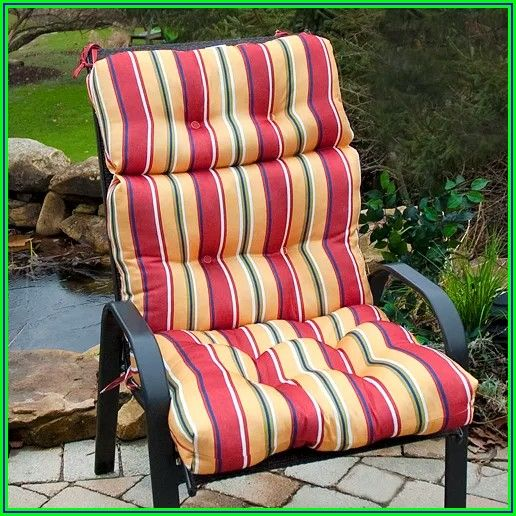 Sunbrella High Back Patio Chair Cushions