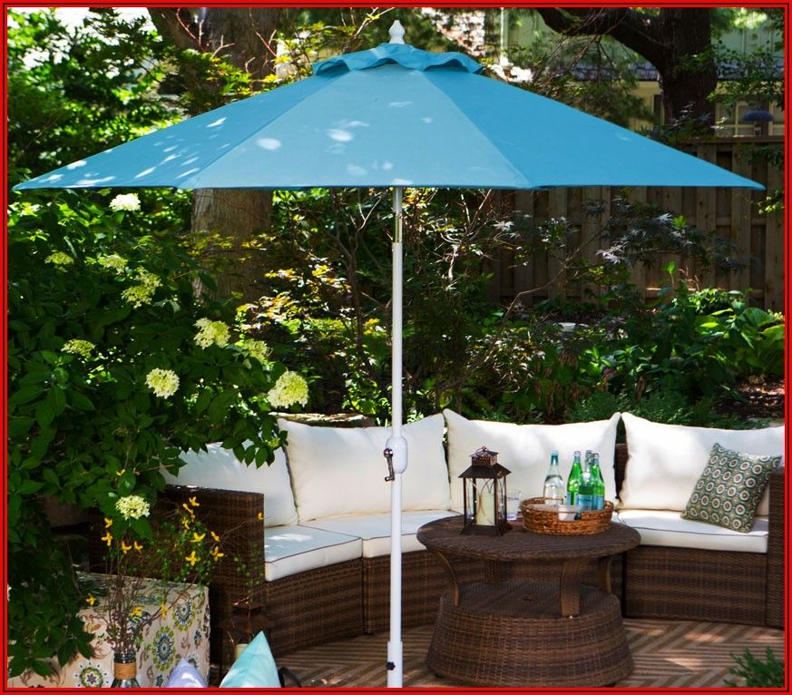 Sunbrella Lighted Patio Umbrella