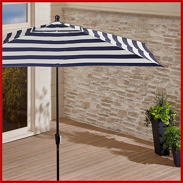 Sunbrella Striped Patio Umbrella