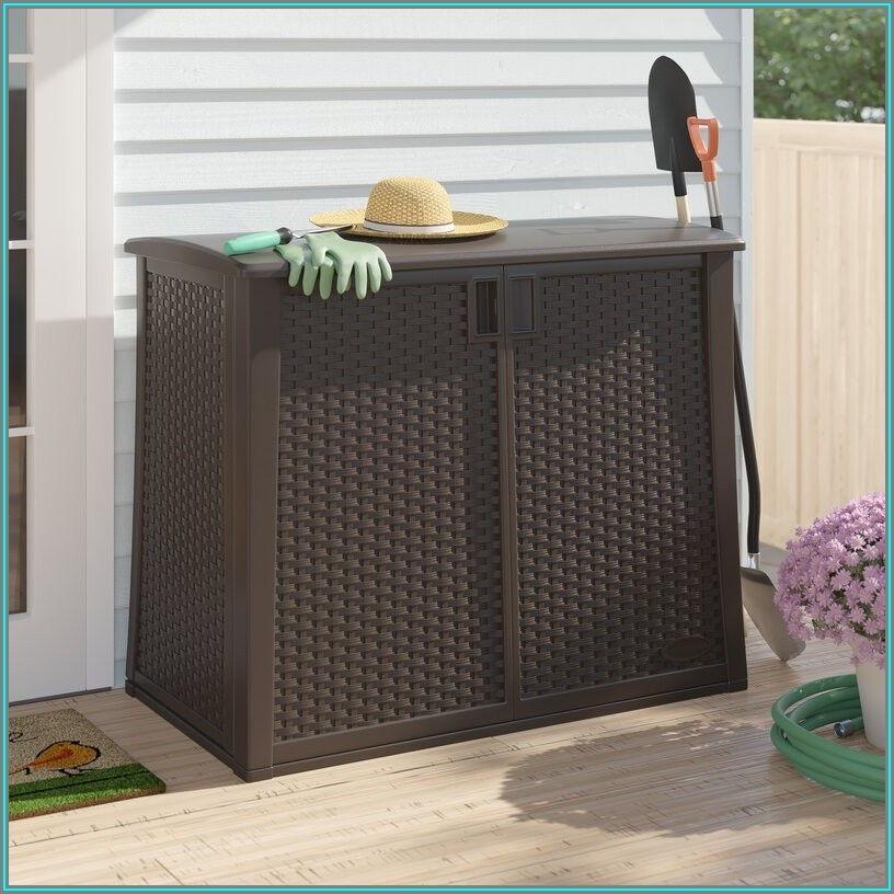 Suncast 97 Gal Resin Outdoor Patio Cabinet