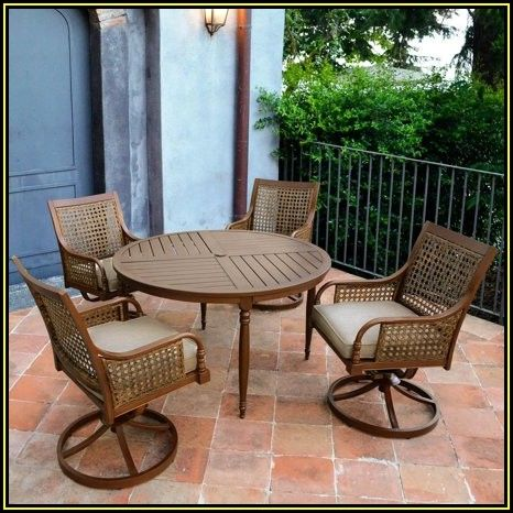 Swivel Patio Dining Chairs With Cushions