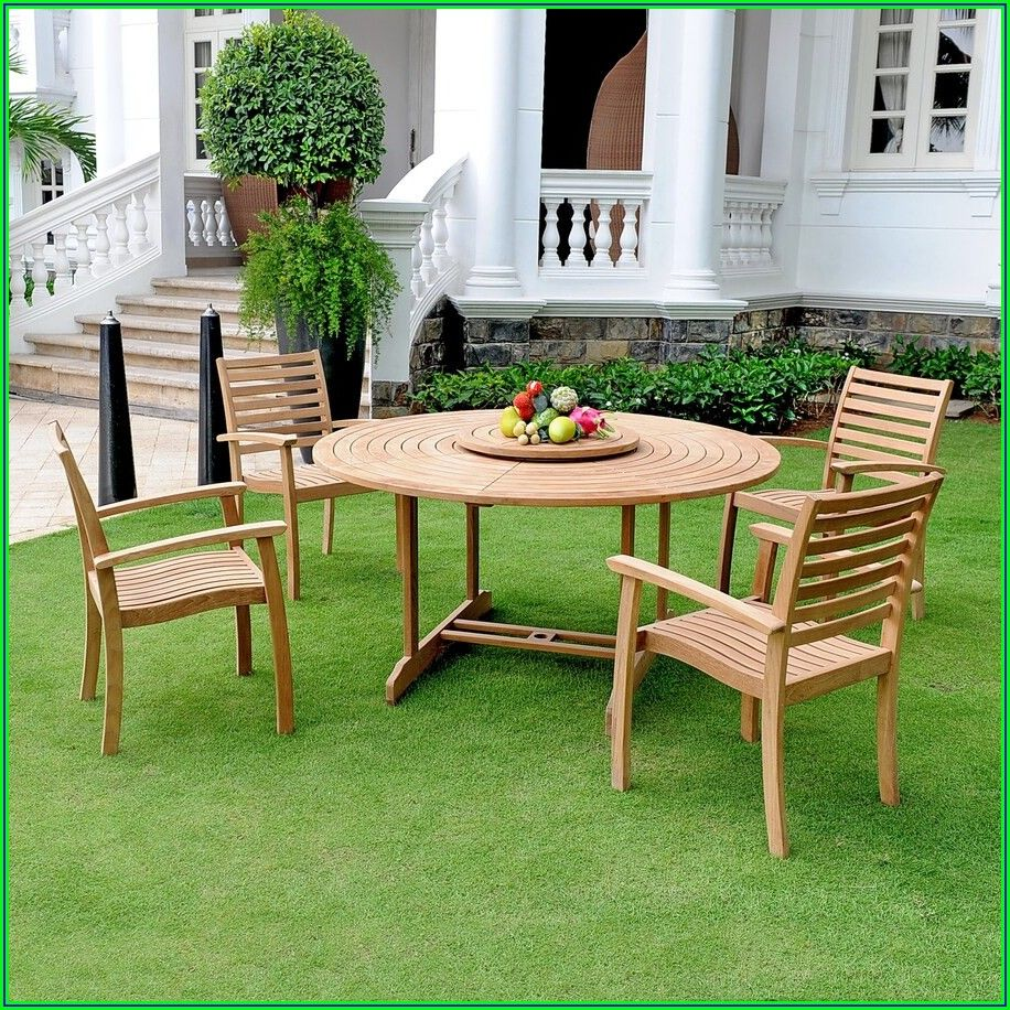 Teak 5 Pc Patio Furniture Set