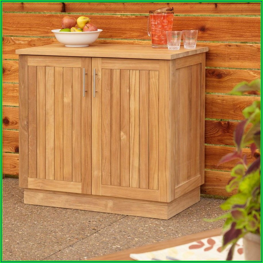 Teak Patio Storage Cabinet
