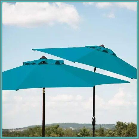 Teal Color Patio Umbrella