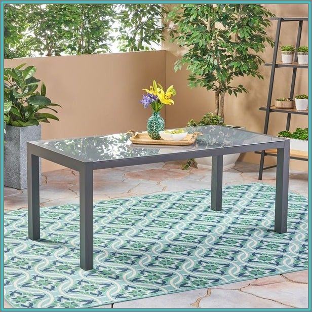 Tempered Glass Patio Dining Table