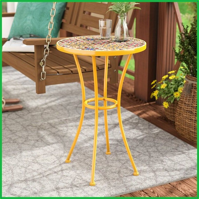 Tile Patio Side Table