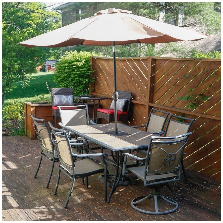 Tile Top Patio Dining Table Set
