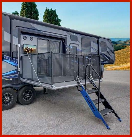 Travel Trailer With Side Patio Deck