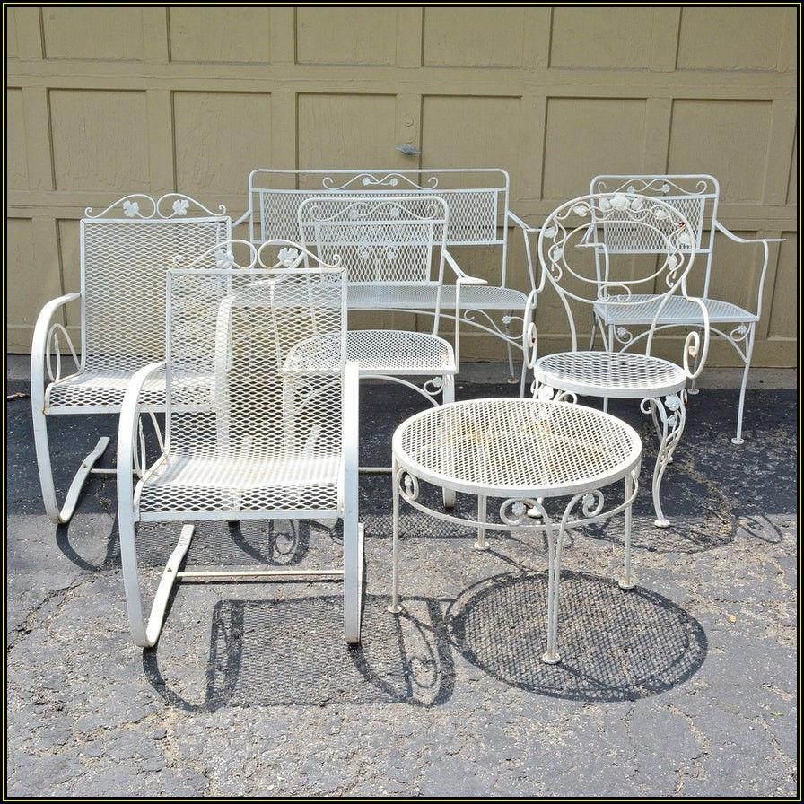 White Metal Patio Chairs