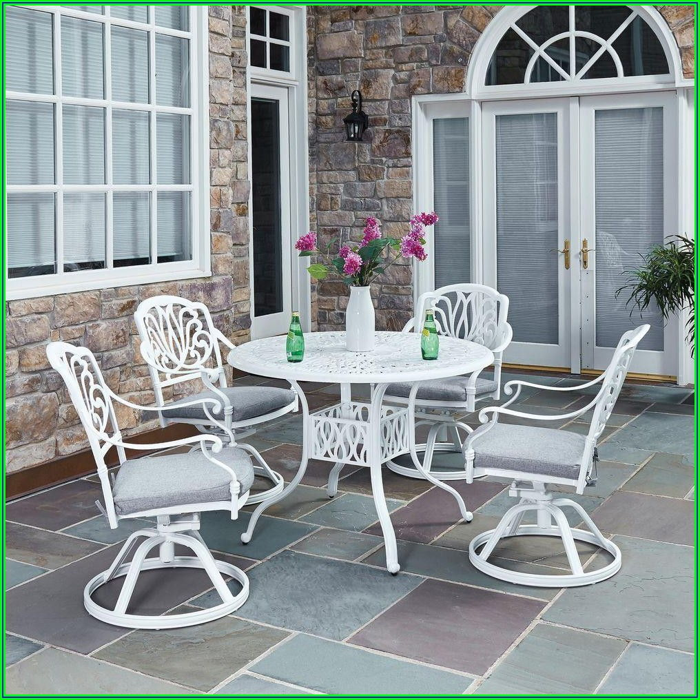 White Patio Table Set