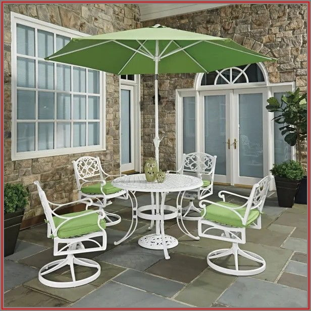 White Swivel Patio Chairs